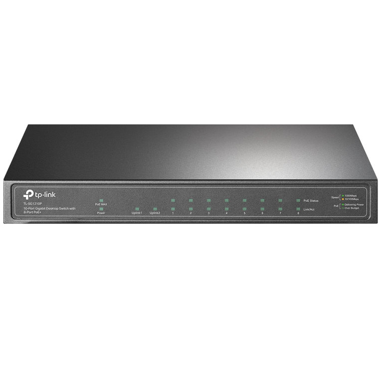 TP-LINK TL-SG1210P switch Gigabit Ethernet (10/100/1000) Gris Energía sobre Ethernet (PoE)