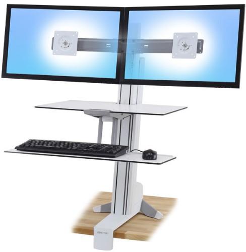 Ergotron WorkFit-S PC Multimedia stand White
