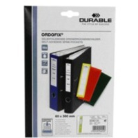 Durable ORDOFIX 60 mm self-adhesive label Yellow Rectangle 10 pc(s)