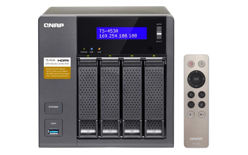 QNAP TS-453A-4G 4TB (2 X 2TB SGT-IW) 4 Bay Desktop NAS Drive 4GB RAM 4K H.264
