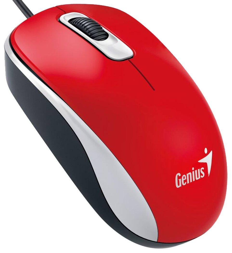 Genius DX-110 USB Optical 1000DPI Ambidextrous Red mice