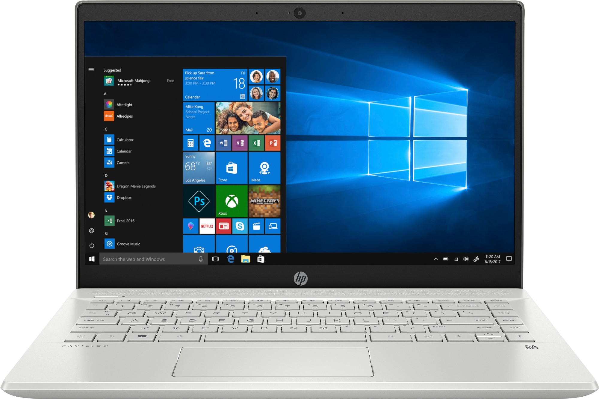 "HP Pavilion 14-ce2000na Silver Notebook 35.6 cm (14"") 1920 x 1080 pixels 8th gen Intel® Core™ i3 8 GB DDR4-SDRAM 256 GB SSD Windows 10 Home"