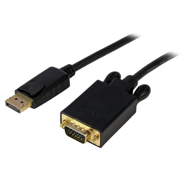 StarTech.com 4,5 m lange DisplayPort-naar-VGA-adapterconverterkabel DP naar VGA 1920x1200 zwart