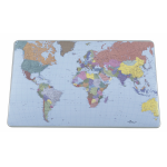 Durable Desk Mat with World Map