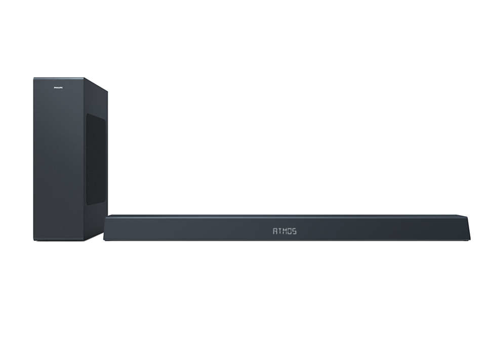 Philips TAB8405 Dolby Atmos Soundbar 2.1 with Wireless Subwoofer
