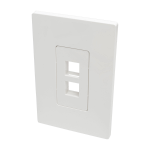 Tripp Lite 2-Port Single-Gang Universal Keystone Wallplate, White