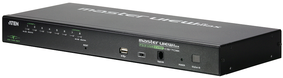 Aten 8 PORT PS/2-USB KVM Switch over the NET with 1 local/remote user access (1 bus), Cascade