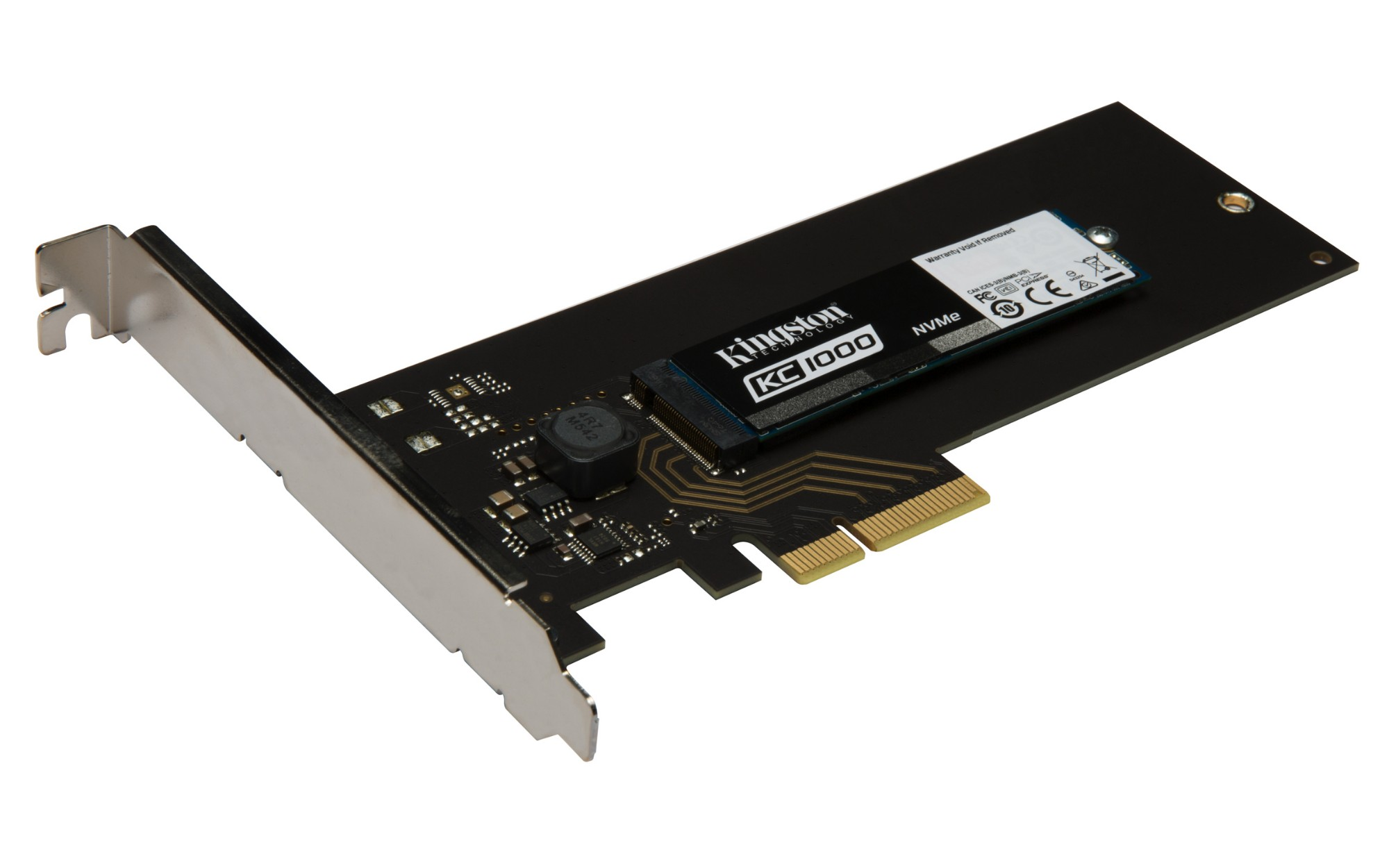 Kingston Technology KC1000 NVMe PCIe SSD 240GB, HHHL PCI Express 3.0 SKC1000H/240G