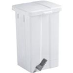FSMISC WHITE 50 LITRE PEDAL BIN 312252