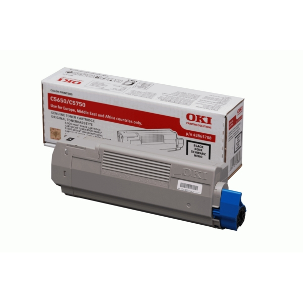 OKI 43865708 Toner black, 8K pages @ 5% coverage