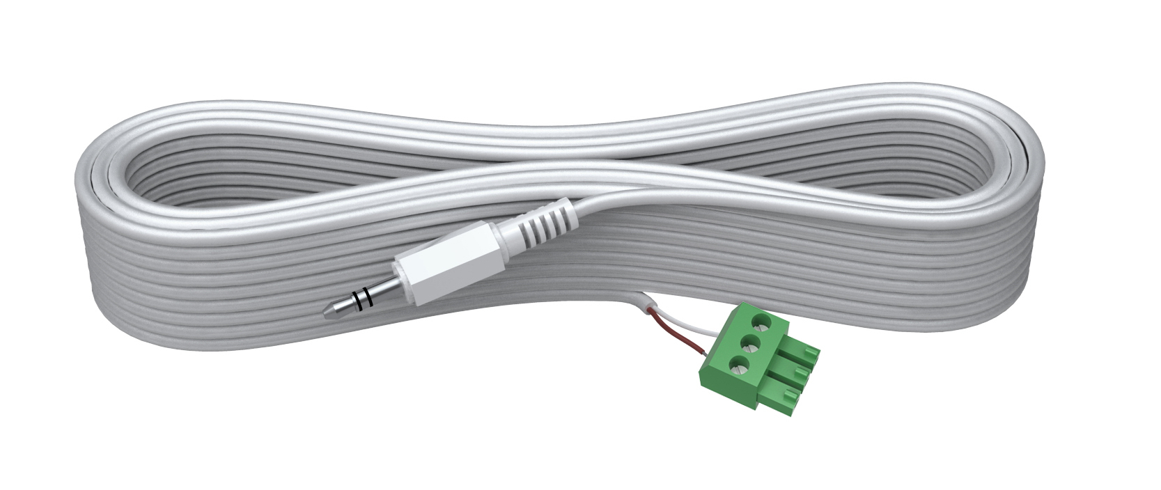 Vision TECHCONNECT SPARE 3M 3.3mM MINIJACK CABLE High-Grade White Installation Cable. A moulded connector o