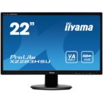 "iiyama ProLite X2283HSU-B1DP LED display 54.6 cm (21.5"") 1920 x 1080 pixels Full HD Flat Matt Black"