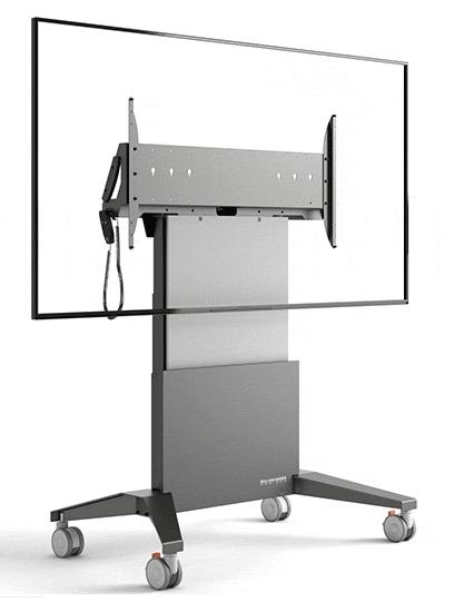 "Salamander FPS1XL/EL/GG/EX 90"" Portable flat panel floor stand Graphite, Grey flat panel floorstand"