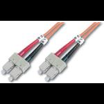 Digitus DK-2622-01 fiber optic cable 1 m SC Orange