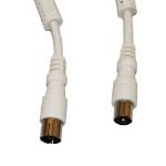 Videk 2111 coaxial cable M 2 m White