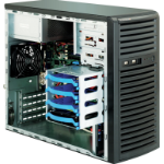 Supermicro 731i-300B Mini-Tower Black Server Case with 300W 80PLUS Bronze Power Supply