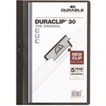Durable Duraclip 30 report cover Black,Transparent PVC