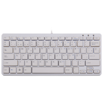 R-Go Tools R-Go Compact Keyboard, QWERTY (ES), white, wired