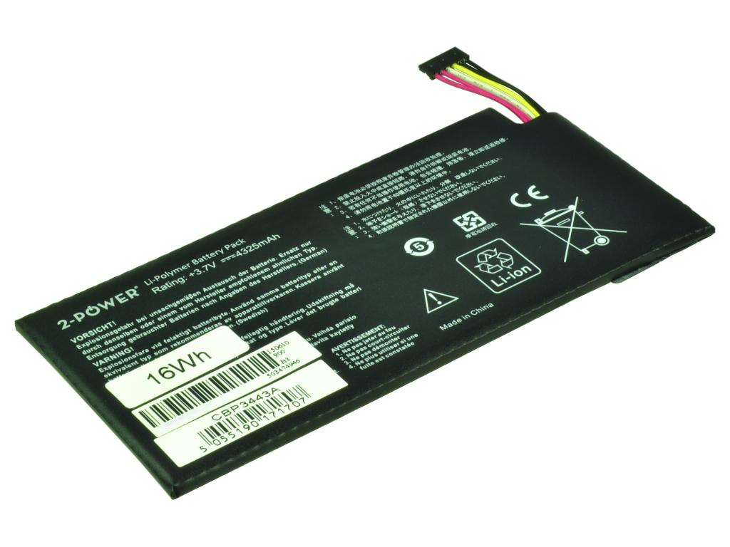 2-Power 3.7v, 16Wh Laptop Battery - replaces 0B200-00280100