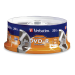 "Verbatim DigitalMovieâ""¢ DVD-R 4.7GB 8X 25pk Spindle 25 pcs"