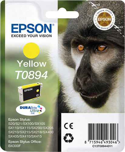 Epson Monkey Cartucho T0894 amarillo