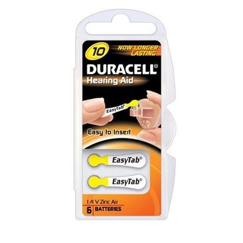 Duracell DA10 household battery Single-use battery Zinc-Air