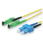 ASSMANN Electronic 10m E2000 (APC) - LC Singlemode LSOH Glasvezel kabel OS2 E-2000 (APC) Geel