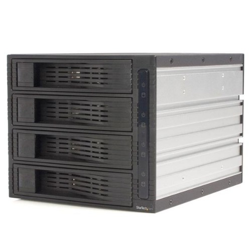 StarTech.com 4 Drive 3.5in Trayless Hot Swap SATA Mobile Rack Backplane