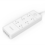 Orico 6 AC Outlet Surge Protector with 4 USB 30W Smart Charger (OSD-6A4U-AU) - UPAE-Q6A3U - UPAPCP66 - UPS