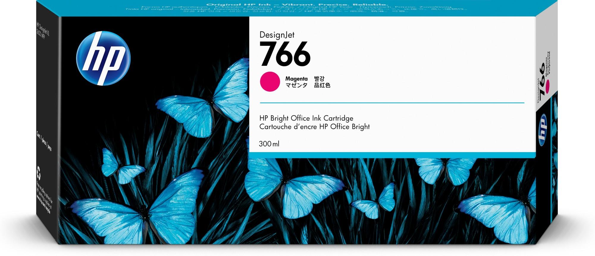HP 766 Original Magenta 1 pieza(s) Rendimiento estándar