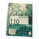 Pukka Recycled Notebook Wirebound Perforated Ruled 80gsm 110pp A5 Ref RCA5/110 [Pack 3]