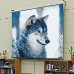 Luma - 152cm x 152cm - 1:1 No Borders - Manual Projector Screen - Matt White XT1000E Fabric