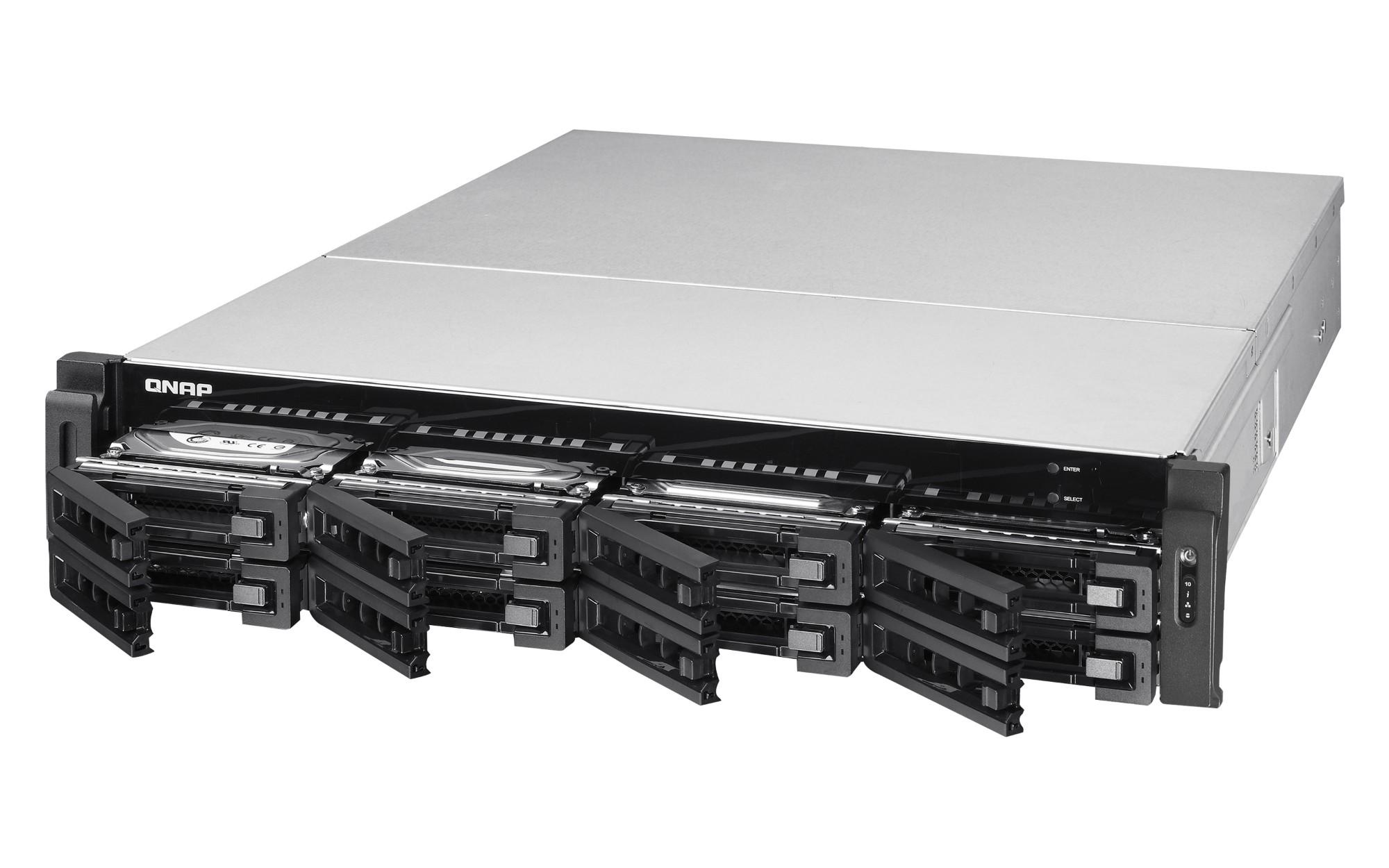 QNAP TS-EC880U R2 NAS Rack (2U) Ethernet LAN Black,Grey