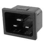 Videk 2196C 2P+T Black electrical power plug