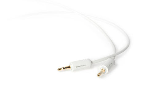 Techlink WiresMEDIA, 3.5mm - 3.5mm 1m 3.5mm 3.5mm White audio cable