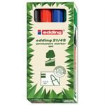 Edding 2000c permanent marker Black,Blue,Green,Red Bullet tip 4 pc(s)