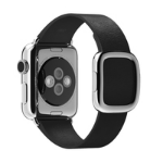 Apple 38mm Modern Buckle - Large - watch strap - black - for Watch (38 mm)