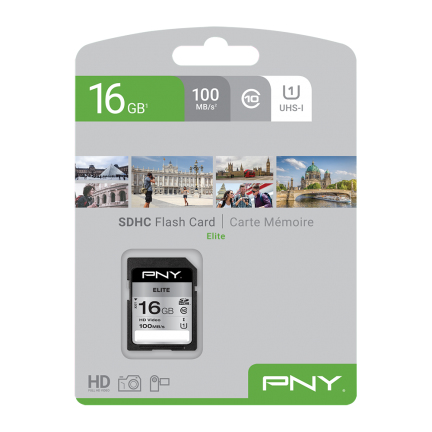 PNY Elite memory card 16 GB SDHC Class 10 UHS-I