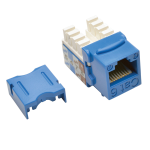 Tripp Lite Cat6 / Cat5e 110 Style Punch Down Keystone Jack RJ45 - Blue socket-outlet