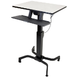 Ergotron WorkFit-PD computer desk Black,Grey