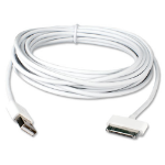 "QVS AST-5M mobile phone cable Samsung 30-pin USB A White 196.9"" (5 m)"