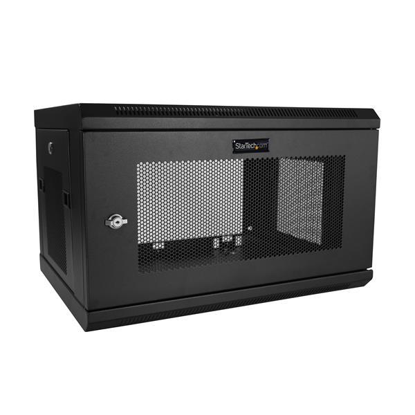 """StarTech.com 6U Serverkast rack wand monteerbaar diepte tot 16,9"""" / 42,9 cm scharnierende behuizing"""