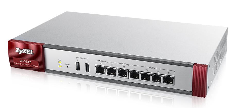 Zyxel USG110 cortafuegos (hardware)