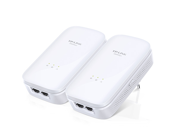 TP-LINK AV1000 Ethernet LAN White 2pc(s) PowerLine network adapter