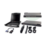 "APC 2x1x16 IP KVM w/ 17"" Rack LCD & USB VM Server Module Bundle KVM switch Rack mounting Black"