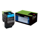 Lexmark 80C8SC0 2000pages Cyan laser toner & cartridge