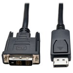 Tripp Lite DisplayPort to DVI Cable, Displayport with Latches to DVI-D Single Link Adapter (M/M), 1.83 m (6-ft.)