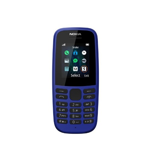 Nokia 105 (2019 edition) 1.77 Inch UK SIM Free Feature Phone (Single SIM) – Blue