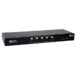 Tripp Lite 4-Port Dual Monitor DVI KVM Switch with Audio and USB 2.0 Hub, Cables included