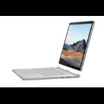 """Microsoft Surface Book 3 Hybrid (2-in-1) Platinum 38.1 cm (15"""") 3240 x 2160 pixels Touchscreen 10th gen Intel® Core™ i7 32 GB LPDDR4x-SDRAM 512 GB SSD NVIDIA® Quadro® RTX 3000 Max-Q Wi-Fi 6 (802.11ax) Windows 10 Pro"""